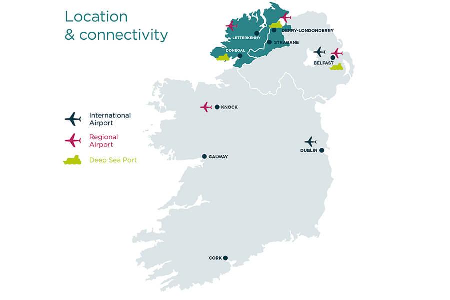 Location Map | Ireland Northwest