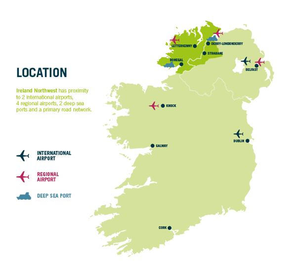 Map Of Ireland Knock Airport.Map Ireland Northwest
